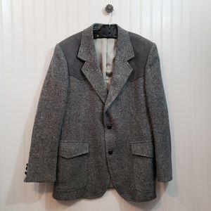 Pendleton Vintage Wool & Suede Blazer Size 40